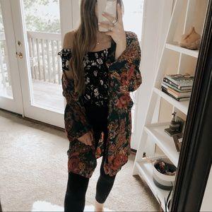 Victoria's Secret Vintage Silk Floral Kimono Robe